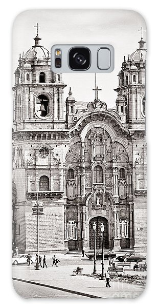 Cusco Cathedral Galaxy Case by Darcy Michaelchuk