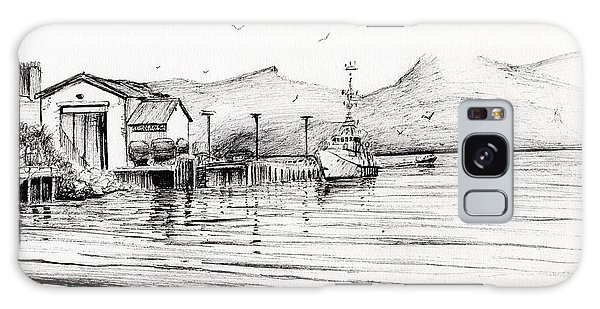 Pen And Ink Drawing Galaxy Case - Customs Boat At Oban by Vincent Alexander Booth