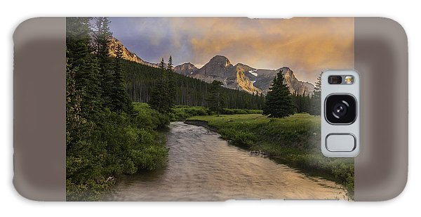 Cut Bank Creek At Sunset Galaxy Case