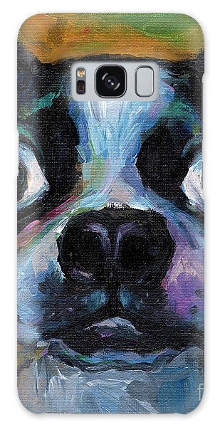Cute Boston Terrier Puppy Art Galaxy Case