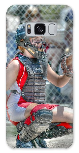 Cute Catcher In Red And White. Galaxy Case