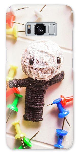 Voodoo Galaxy Case - Cute Doll Made From Yarn Surrounded By Pins by Jorgo Photography - Wall Art Gallery