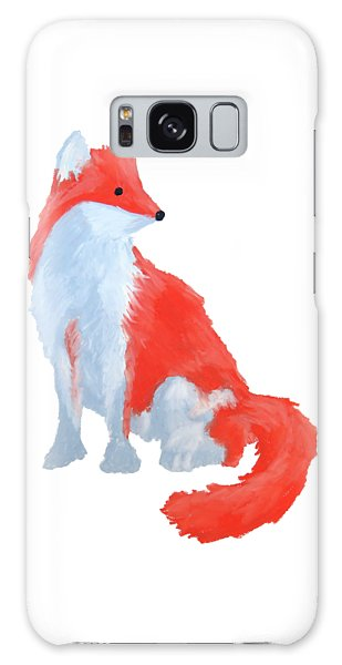 Cute Fox With Fluffy Tail Galaxy Case