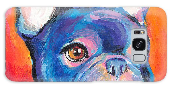Cute French Bulldog Painting Prints Galaxy Case