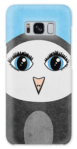 Cute Geometric Penguin Galaxy Case