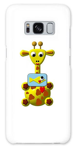 Cute Giraffe With Goldfish Galaxy Case