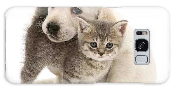 Cute Kitten And Perfect Puppy Galaxy Case