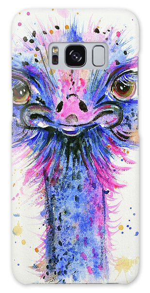 Cute Ostrich Galaxy Case by Zaira Dzhaubaeva