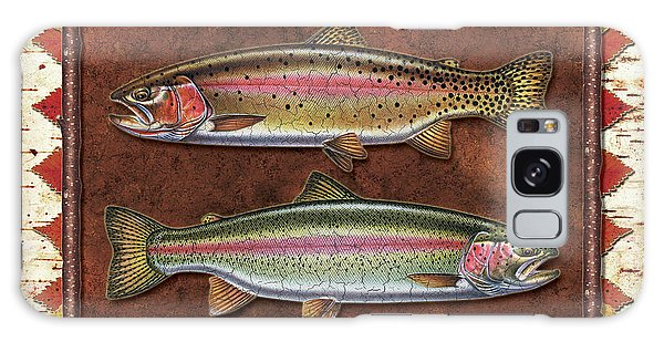 Cutthroat And Rainbow Trout Lodge Galaxy Case