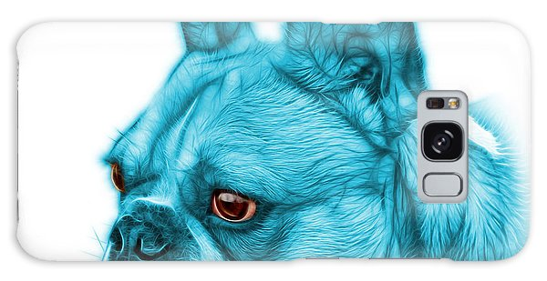 Cyan French Bulldog Pop Art - 0755 Wb Galaxy Case