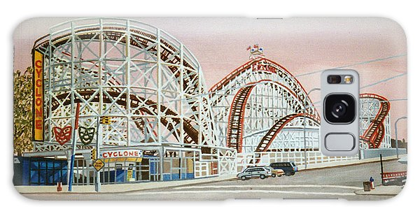 Cyclone Rollercoaster In Coney Island New York Galaxy Case