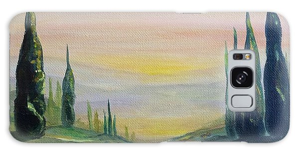 Cypress Dawn Landscape Galaxy Case