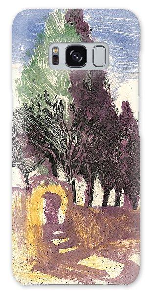 Cypresses Bonnieux Galaxy Case by Martin Stankewitz