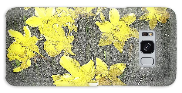 Daffodil 2-pencil Etch Galaxy Case by Nick Kloepping