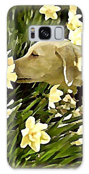 Galaxy Case - Daffodil Dog by Raven Hannah