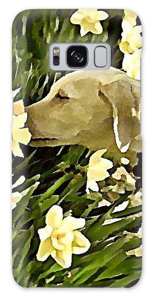 Galaxy Case - Daffodil Dog by Raven Hannah