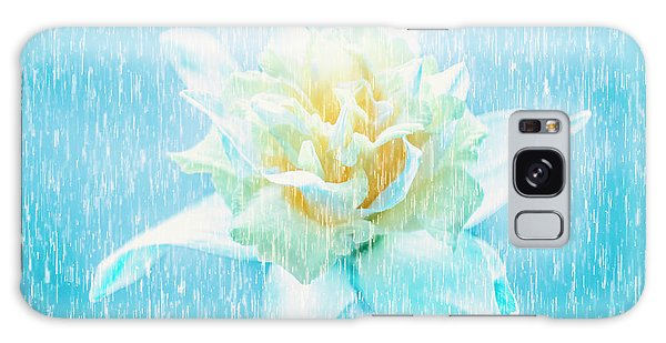 Daffodil Flower In Rain. Digital Art Galaxy Case by Jorgo Photography - Wall Art Gallery