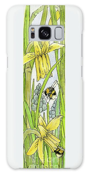 Daffodils And Bees Galaxy Case