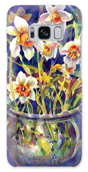 Daffodils And Lace Galaxy Case