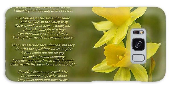 Daffodils Poem By William Wordsworth Galaxy Case