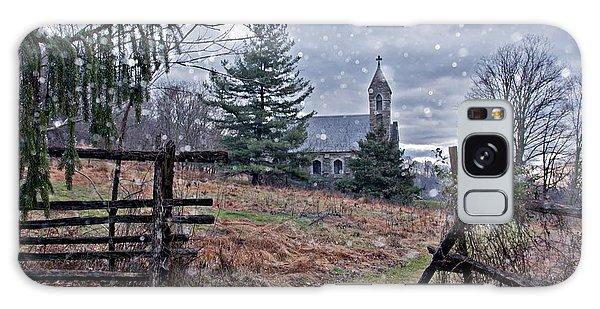 Dahlgren Chapel Winter Scene Galaxy Case