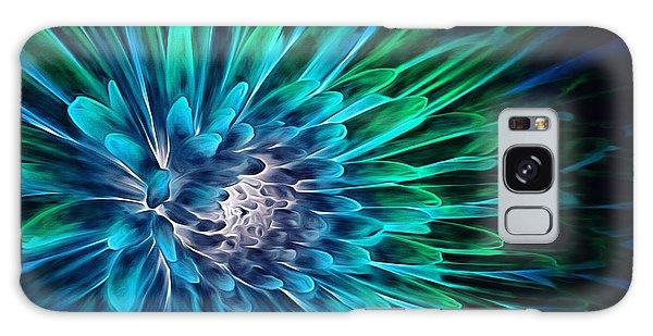 Dahlia Abstract Vibrance Galaxy Case by Mary Lou Chmura