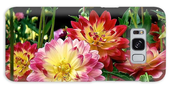 Dahlia Garden Time  Galaxy Case