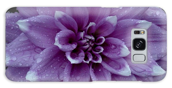 Dahlia In Rain Galaxy Case