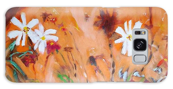 Daisies Along The Fence Galaxy Case