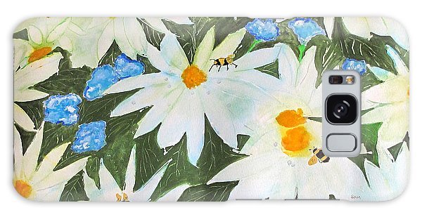 Daisies And Bumblebees Galaxy Case