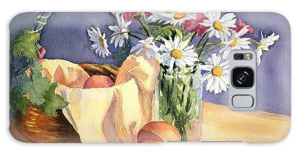 Daisies And Peaches Galaxy Case by Vikki Bouffard