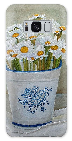 Daisies And Porcelain Galaxy Case
