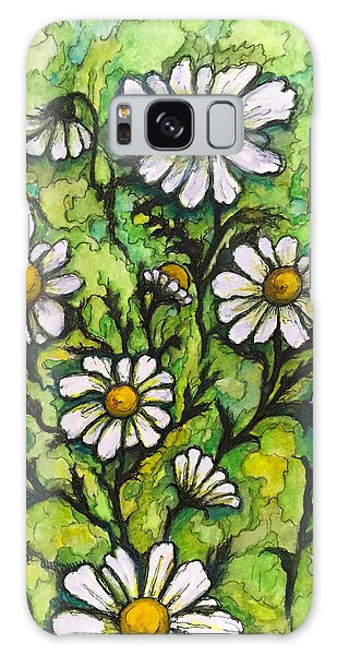 Daisies Galaxy Case by Rae Chichilnitsky