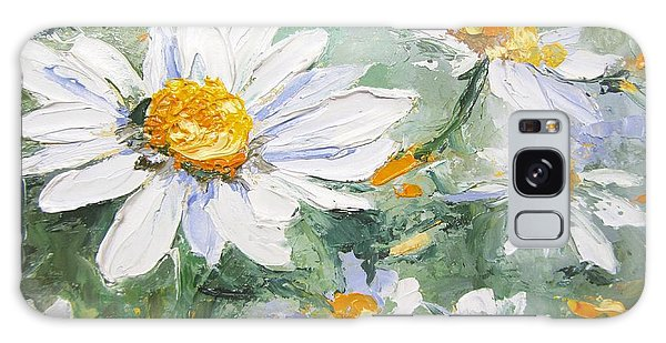 Daisy Delight Palette Knife Painting Galaxy Case