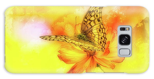 Daisy For A Butterfly Galaxy Case