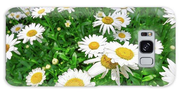 Galaxy Case featuring the photograph Daisy Garden by SR Green