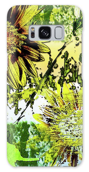 Sunflower On Water Galaxy Case by Deborah Nakano