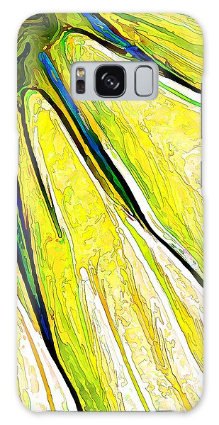 Daisy Petal Abstract In Lemon-lime Galaxy Case by ABeautifulSky Photography
