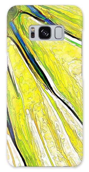 Daisy Petal Abstract In Lemon-lime Galaxy Case