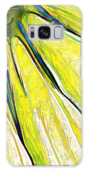 Daisy Petal Abstract In Lemon-lime Galaxy Case