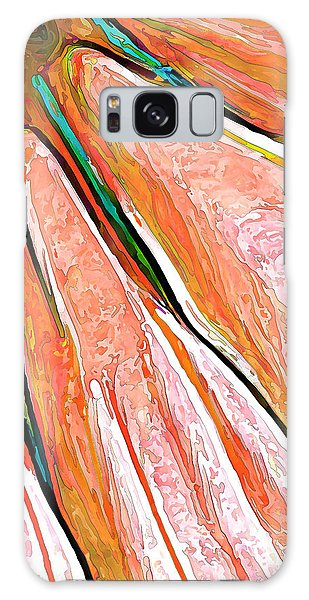 Daisy Petal Abstract In Salmon Galaxy Case