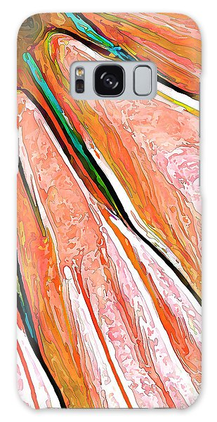 Daisy Petal Abstract In Salmon Galaxy Case by ABeautifulSky Photography
