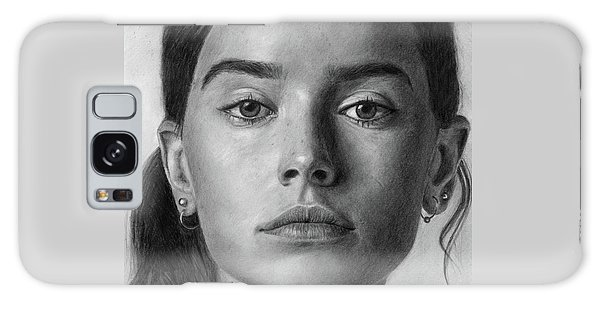 Daisy Ridley Pencil Drawing Portrait Galaxy Case