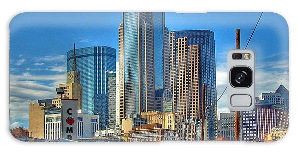 Dallas Morning Skyline Galaxy Case by Farol Tomson