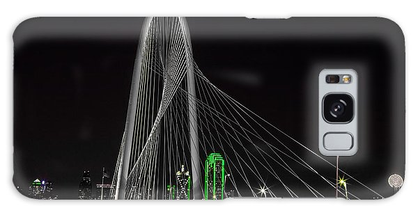 Dallas Nightscape With Green Galaxy Case by John Roberts