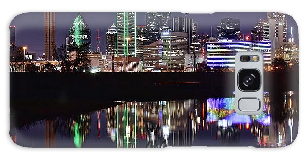 Dallas Reflecting At Night Galaxy Case by Frozen in Time Fine Art Photography