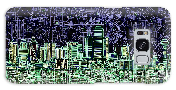 Dallas Skyline Abstract 4 Galaxy Case