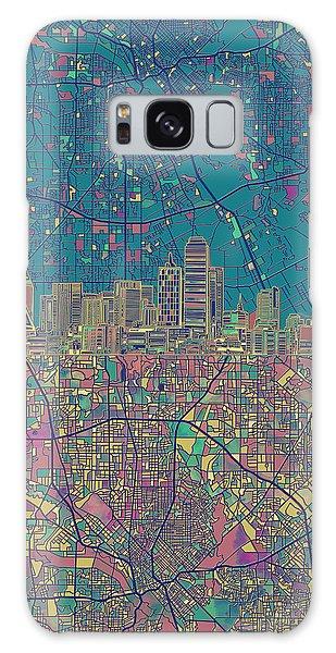 Dallas Skyline Map Green Galaxy S8 Case