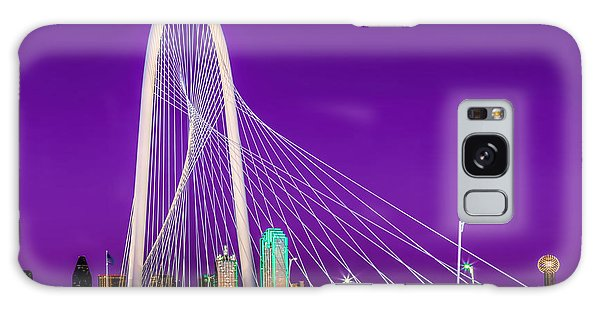 Dallas Skyline Purple Galaxy Case by John Roberts