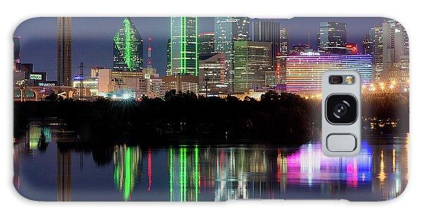 Dallas Skyline Reflection 91317 Galaxy Case